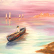 """Paint & cookies """"Into the Sunset"""" at 11am $25 image"""