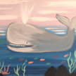 """Paint & cookies """"Dirby the Whale"""" at 11am $25 image"""