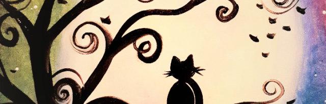 """Let's Paint """"Meditative Cat"""""""