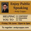 Enjoy Public Speaking image