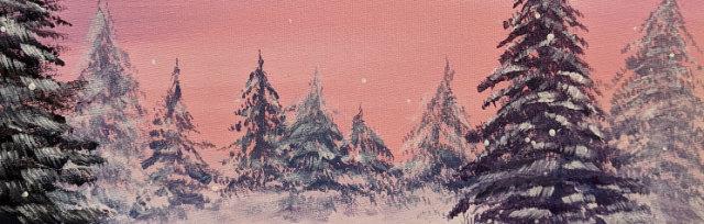 """Let's Paint """"Let it Snow"""" - Online"""