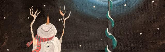 """Let's Paint """"Happy Snowman"""" - Online"""