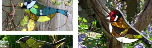 Stained Glass Mosaic Garden Birds with Yvette Green - £68