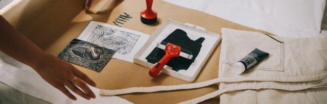 Make your own Lino Prints - Virtual class + Kit!