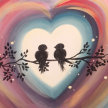 Paint & sip!Love Birds at 3pm $29 image