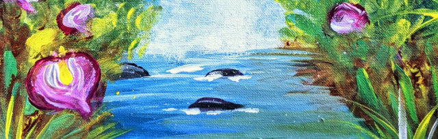 """Let's Paint """"Magic Waterfall"""" - Online"""