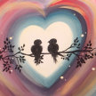Paint & sip! Love Birds at  3pm $35 image
