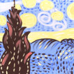 Paint & Sip!Starry Night at 7pm $25 Upland image