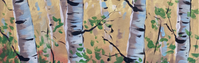 Birch Wood Brush Party - Online