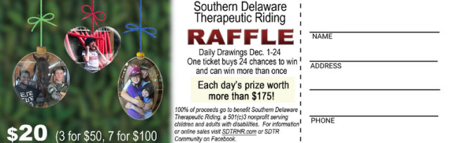 SDTR December 2018 Raffle Tickets On Sale Now!