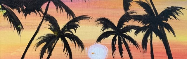 Paint & Sip! Surfs up at 7pm $29 Upland