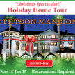 """Nov 15, 2019 Stetson Mansion """"Christmas Spectacular!"""" Holiday Home Tour image"""