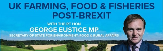 An online audience with Rt Hon George Eustice MP, on the future of food, farming and fishing, post Brexit