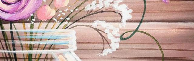 """""""Wild Flower Jar"""" paint class"""