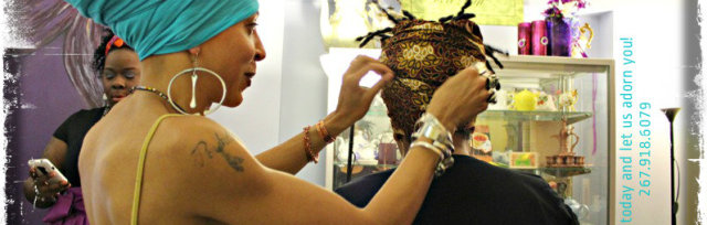 Crowning with Color: Head Wrapping Workshop lead by Netfah Amina Afia Bell,