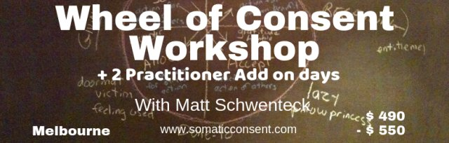 Wheel of Consent workshop + 2 Experimental add on days for Professionals.