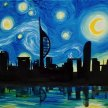 """Let's Paint """"Starry Night Over Portsmouth"""" image"""