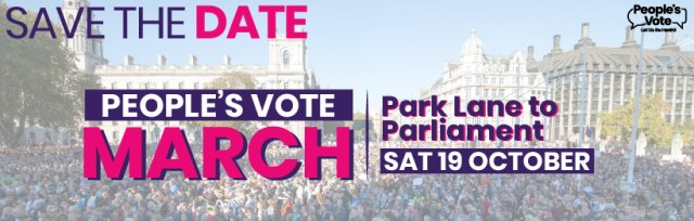 People's Vote March - Coach from Huddersfield to London 19/10/19