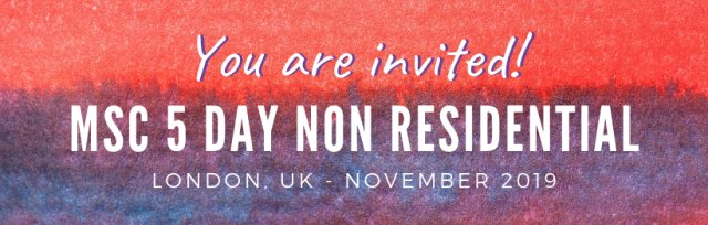 The Official Mindful Self-Compassion Programme - (MSCI 7.0) - 5 Day NON-Residential Training