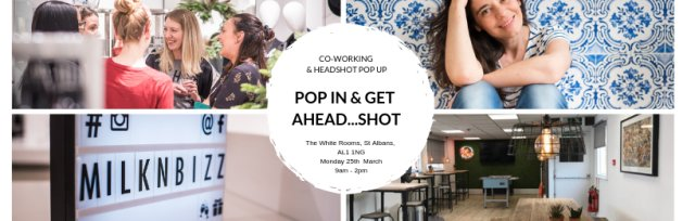 Pop in and get Ahead...shot - Co-Working & headshot pop up event