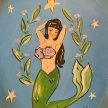 Paint & sip! Mermaid at  3pm $35 image