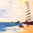 NEW!Paint & sip! Lighthouse at 3pm $29 image