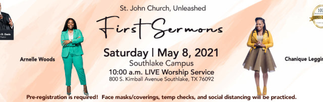May 8: Initial Sermons - Chanique Leggins and Arnelle Woods Initial Sermon LIVE Service