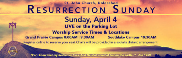 Resurrection Day Worship Service on the Parking Lot