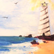 """Paint & cookies """"Lighthouse"""" at 11am $25 image"""