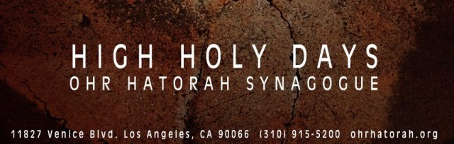 HIGH HOLY DAYS TICKET INFORMATION