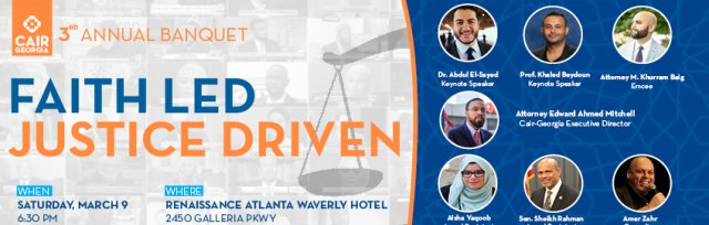 CAIR Georgia's 2019 Banquet: Faith Led, Justice Driven