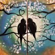 Partner Painting - Birds on a Tree image