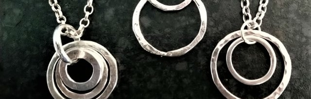 Sterling Silver Circles Pendant with Wendy Murphy - £85
