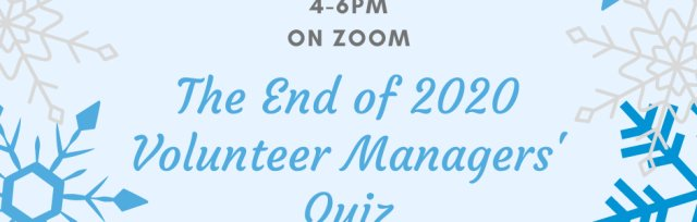 The End of 2020 Volunteer Managers' Quiz