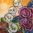 Paint & Sip! HALLOWEEN EVENT! Jumble Skulls at 7pm $35 image