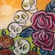 Paint & Sip! Jumble Skulls up at 7pm $25 Upland image