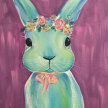 """Paint & cookies """"Bunny"""" at 11am $25 image"""