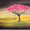 Paint & Sip! Tree Swing at 2pm $35 UPLAND image