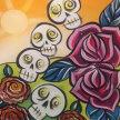 Paint & sip!Jumble Skulls $25 at 3:30 pm image