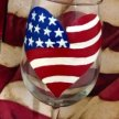 4th of July Wine Glass Painting image