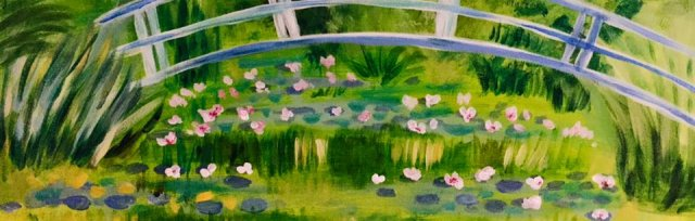 Paint & Sip! Water lillies under the bridge at 7pm $29 Upland