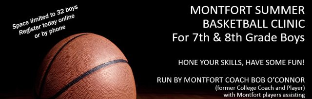 Montfort Basketball Camp for 7th and 8th Grade Boys