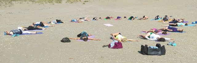 Beach Yoga Breakfast
