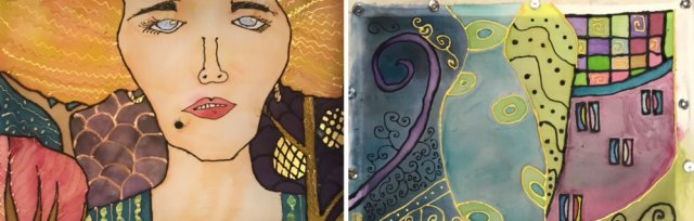 Silk Painting inspired by Klimt with Sarah Moorcroft [Ref#421]