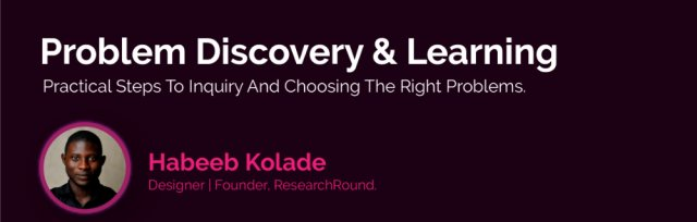 Problem Discovery and Learning