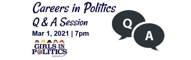 Careers in Politics Question & Answer Session