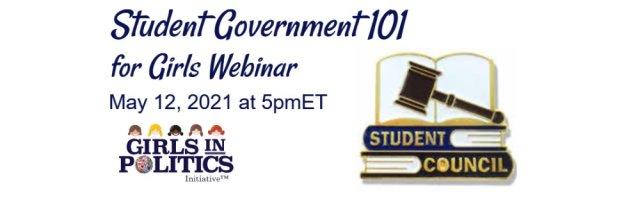 Student Government 101 for Girls Webinar