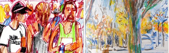 Outdoor Drawing with Colour Wednesdays evenings June 2020 with Isabel Carmona [Ref#428]