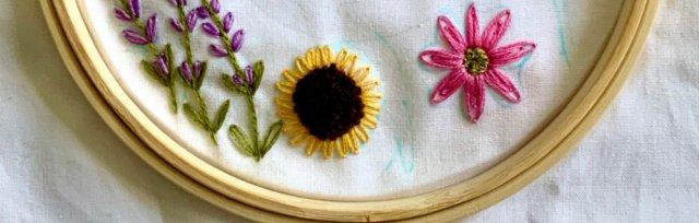 Flowers Embroidery Art with Khadija Aziz (Online)