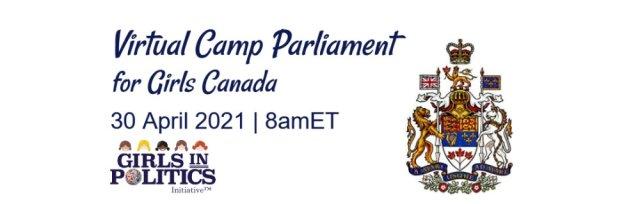 Virtual Camp Parliament for Girls Canada